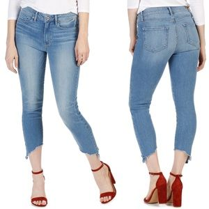 Paige Hoxton Crop Dacey Angled Fray Jeans Size 24